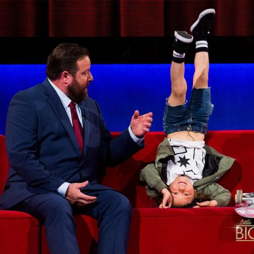 Little Big Shots host Shane Jacobson