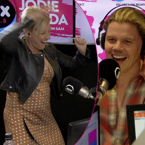 Conrad Sewell's intense game of 'Sucker DJ' vs Jodie Oddy