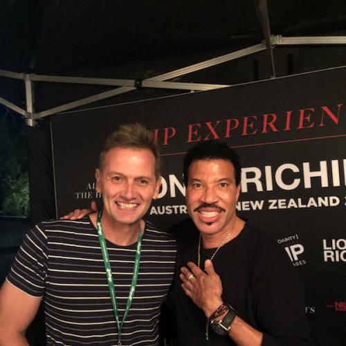 Lionel Richie and Soda Chat Backstage
