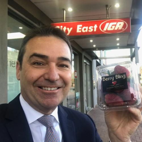 Strawberries with Steven Marshall
