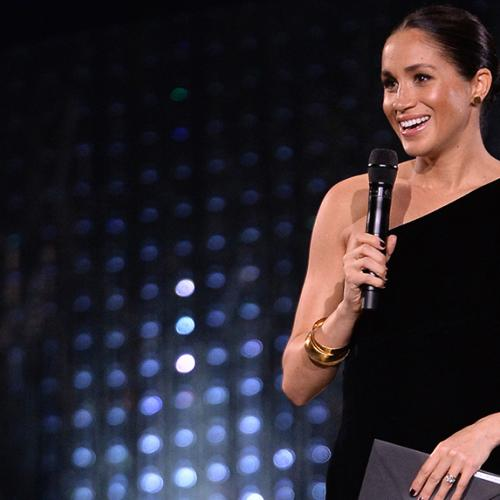 Meghan Markle Shows Off Baby Bump At British Fashion Awards