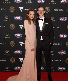 http://Connor%20Rozee%20of%20Port%20Adelaide%20and%20Sophie%20Barbour%20arrive%20during%20the%202019%20Kennedy%20Brownlow%20Red%20Carpet%20arrivals%20at%20Crown%20Palladium.