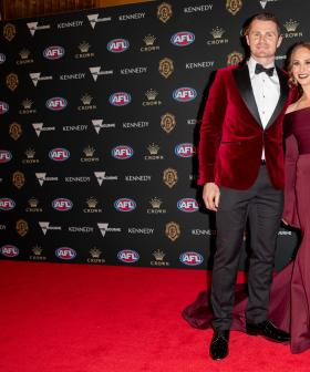 http://Patrick%20and%20Mardi%20Dangerfield%20attends%20the%202019%20Brownlow%20Medal%20on%20September%2023,%202019.