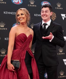 http://Port%20Adelaide's%20Darcy%20Byrne-Jones%20and%20his%20partner%20Alice%20McKeough%20arrives%20at%20the%202019%20Brownlow%20Medal%20at%20Crown%20Palladium.