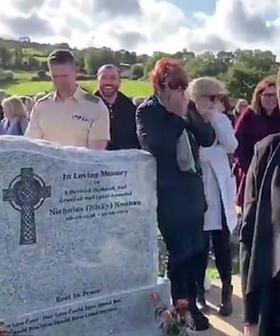 """Let Me Out!"": Irish Comedian Gets The Last Laugh When He 'Wakes Up' At His Own Funeral"