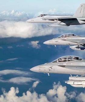 Airforce F/A-18 Fly Over Across Adelaide About To Happen