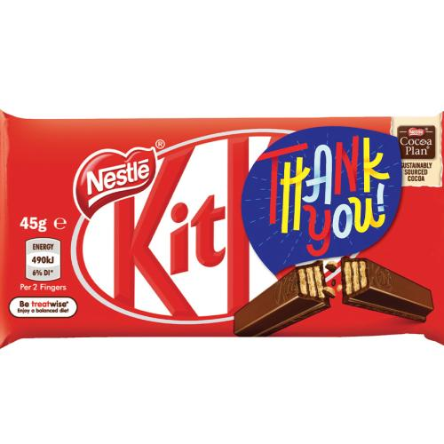 KitKat Gives 250,000 'Thank You' Labelled Bars To Thousands Of Healthcare Workers