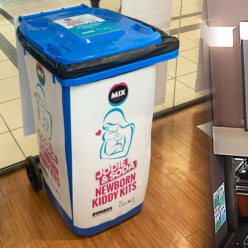 Romeo's To The Rescue! Jodie & Soda's Newborn Kiddy Kit Donation Bins Are Now Out There