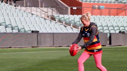 Can Jodie Slot The Goal That An AFL Player Couldn't