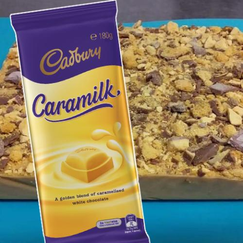 You Can Make This Caramilk Crunchie Slice In A Slow Cooker With Just Five Ingredients