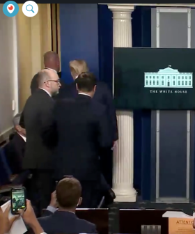 BREAKING: Trump 'Rushed' Off Stage Mid-Speech After Shots Fired Outside White House