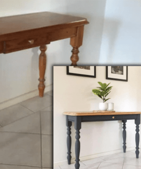 Mum Blows People Minds After Transforming Cheap Table With Two Bunnings Items