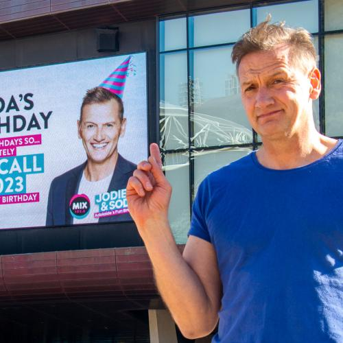 Soda Didn't Want A Big Fuss For His Birthday, So Jodie Just Organised A Few Billboards Around Town