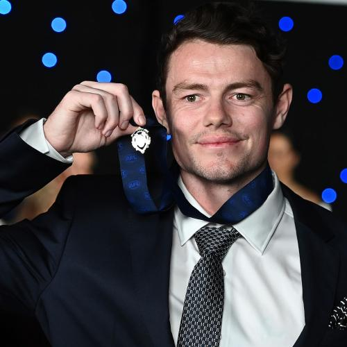 """Lachie Neale Reveals Which Family Member Was """"Best On Ground"""" During Last Night's Brownlow Party"""