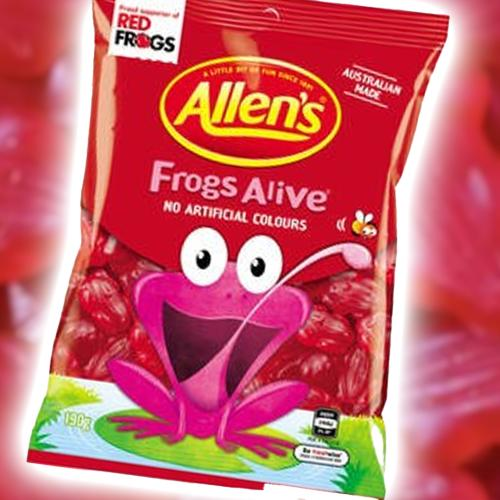 Allen's Have Announced A Big Change To Their Iconic Frogs Alive