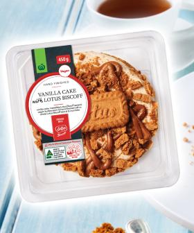 You Can Now Get A Vanilla Biscoff Cake From The Woolies Bakery Section!