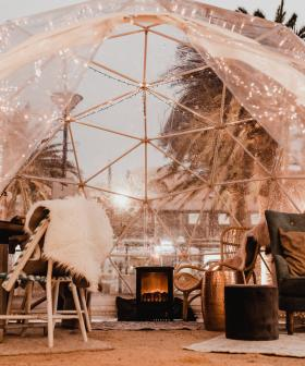 Get Cozy In The Moseley Igloos This Winter With Your Own Fireplace