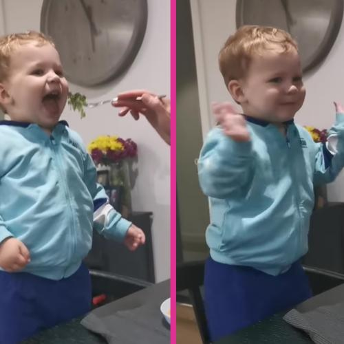 Erin's 2-Year-Old Son Demands Applause Whenever He Eats Veggies