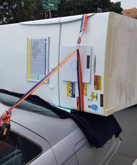 """""""The Magnets Are Still On The Fridge"""": Man Straps Fridge To The Boot Of His Car"""